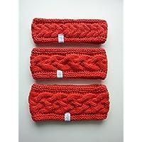 1 Stirnband mit Zopfmuster in 3 Höhen und vielen Farben, auf Wunsch mit Fleece gefüttert