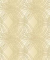 Taupe - BOA-015-01-6 - Leon - Glitter Stripe Circles - Ideco Wallpaper by Ideco by Ideco