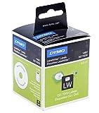 Dymo S0719250 LW Disketten-Etiketten (für 2,25-Zoll-Disketten, 57 mm x 57 mm Rolle, 160 Stück) schwarzer Druck auf weiß