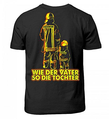 Shirtee Hochwertiges Kinder Feuerwehr Feuerwehrmann Feuerwehrfrau Feuerwehrleute Vater und Tochter Geschenk (Mädchen Feuerwehrleute)