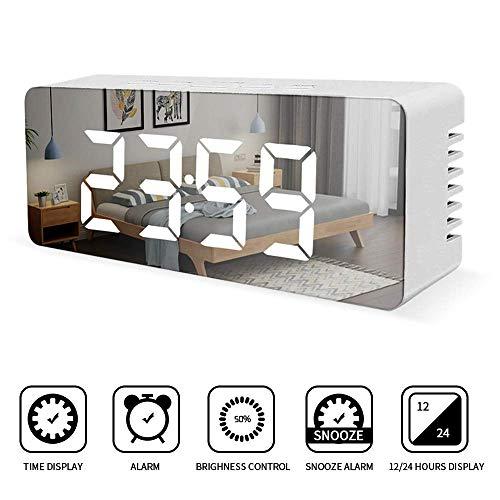 LED Despertador Digital, KIPIDA Despertadores Electrónicos USB Despertador Moderno Pantalla...