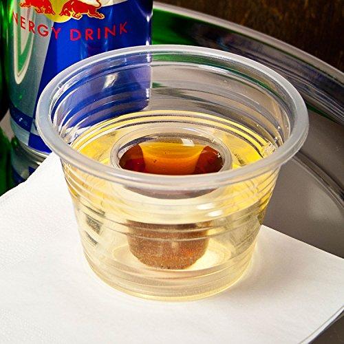 Bomb Shotz clair 105 ml – cas de 500 – Plastique jetables Shot Tasses pour servir Bomb Shots