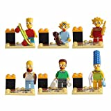bela the simsons minifigures set of 6 mini figures,bart,lisa,homer,marge,ned flanders brand new.please look at our many other minifigures sets.