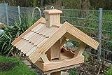Vogelhaus zum aufhängen oder stellen mit Lerchenholzdach V53
