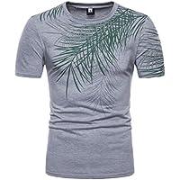 Cloom Männer Top Casual Streifen Druck Pullover Kurzarm T-Shirt Herren Kurzarm Business Top Fitness Top Basic... preisvergleich bei billige-tabletten.eu