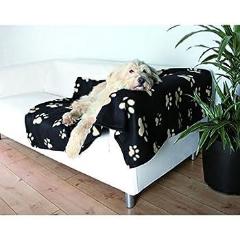 Trixie Plaid pour Chiens et Chats Barney 100 x 150 cm Noir/Beige