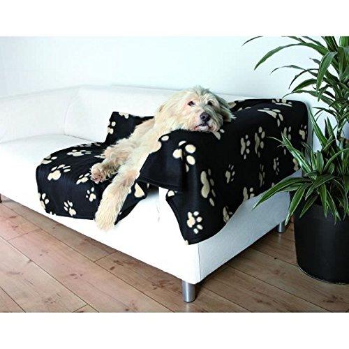 Artikelbild: Trixie 37182 Fleecedecke Barney,150x100 cm, schwarz mit beigen Pfoten