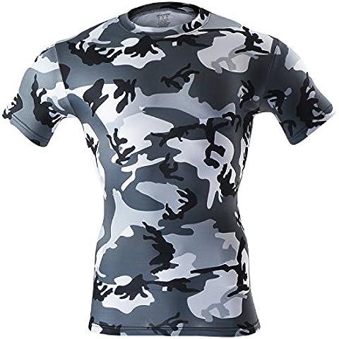 M.Baxter Camiseta de running - Hombre de manga corta para hombre con cuello redondo ropa deportiva