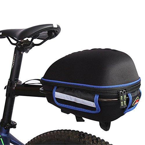 West Biking reflektierend wasserfest Regen Cover tragbar Radfahren Schwanz ausziehbar und Quick-Release Fahrrad Satteltasche Blau