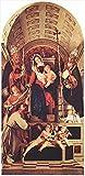 Toperfect €50-€2000 Tableau Peint à la Main - Madone et Enfant avec m Dominic Gregory et Urbain Lorenzo Lotto-Taille14