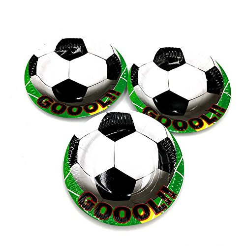 TOOGOO 10 pcs / lot football partie plaques football plats enfants fete d'anniversaire bebe douche football theme papier plaque