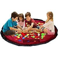 Preisvergleich für Baymate Kinder Aufräumsack Spieldecke Spielzeug Speicher Tasche Aufbewahrung Beutel Spielzeugaufbewahrung (Durchmesser: 150cm)