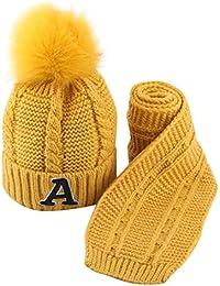 Webla 2 pcs Enfants et Bébé Unisexe Filles Garçons Automne Hiver Chaude  Tricot Crochet Bonnet écharpe 0adca039c7b