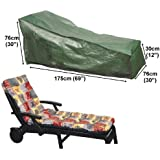 Housse pour chaise longue de jardin transat 175cm gamme standard