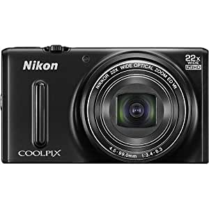 Nikon Coolpix S9600 16MP Point and Shoot Camera (Black) with 22x Optical Zoom, 8GB Card, Camera Case, HDMI Cable