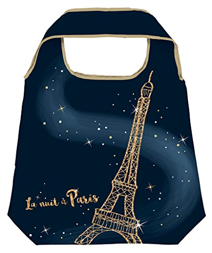 moses. Shopper Paris | Faltbare Einkaufstasche | umweltfreundlich, wiederverwendbar - Paris, Tag, Tasche