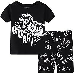 Niños Dinosaurio Conjuntos de pijamas Niños Conjunto de ropa Chicos Algodón Toddler Pjs Ropa de dormir Años 5 Años
