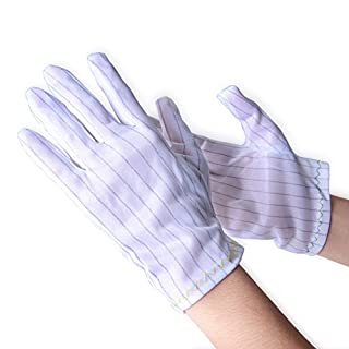 Aituo 3 Pair Stripe Anti Static Gloves for Computer/electronic/working/repairing Safe Gloves (Meidum)