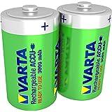 Varta Rechargeable Accu Ready2Use vorgeladnener D Mono Ni-Mh Akku (2-er Pack, 3000 mAh) , wiederaufladbar ohne Memory-Effekt - sofort einsatzbereit