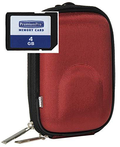 Foto Kamera Tasche Hardcase YOURBOX im Set mit 4GB SD Speicherkarte für Canon Ixus 220 285 275 265 255 185 180 175 155 150 Sony DSC- WX350 WX220
