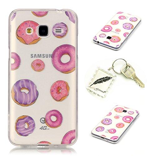 Preisvergleich Produktbild Silikonsoftshell TPU Hülle für Samsung Galaxy J3 (2016) /J310 (5,0 Zoll) Tasche Schutz Hülle Case Cover Etui Strass Schutz schutzhülle Bumper Schale Silicone case+Exquisite key chain X1) #KG (3)