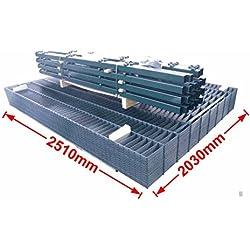 Doppelstab-Mattenzaun Komplett-Set / Anthrazit / 203cm hoch / 40m lang / Metallzaun Zaun Zaunanlage Gartenzaun
