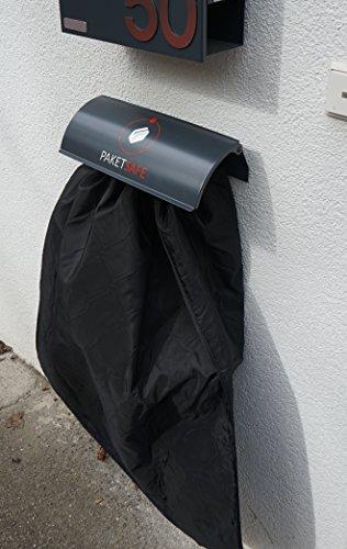 PAKETSAFE – platzsparender Paketsack mit hochwertiger Edestahloptik (anthrazit) - 5
