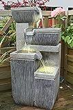 Arnusa Springbrunnen Verano mit LED-Beleuchtung Gartenbrunnen Wasserspiel