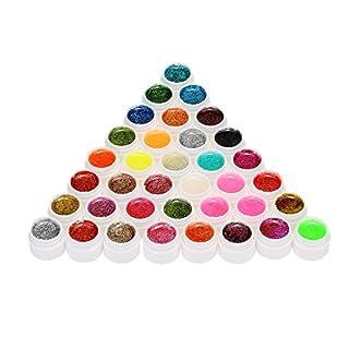 Anself Glitzern Nail Polish Nagellack Set mit 36 Verschiedenen Farben