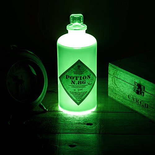 51gqqGJOp4L - Harry Potter LAMPARA 3D Potion Bottle, Verde