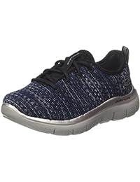 Skechers GO Walk 2Flash - zapatilla deportiva de material sintético niño, color negro, talla 32