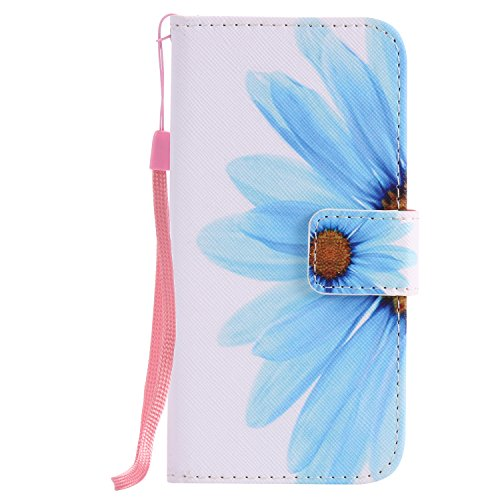iPhone 7 Hülle, OuDu Prägung Muster Hülle Blumen Schmetterling Etui für iPhone 7 PU Leder Handyhülle Klapp Buch-Stil Ledertasche Einzigartige Entwurf Tasche Kompletter Schutzhülle Flip Wallet Case Flo Sonnenblume