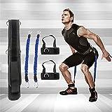 Widerstandsband / Trainingsband für Damen und Herren, von Phifo, für das Training von Beinen, Knien und Armen, für Workout und leichte und schwere Trainingsübungen, blau