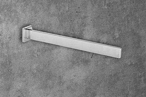 Porta Asciugamani Bagno Da Muro : Gedotec porta asciugamani da parete in alluminio cromato lucido