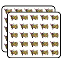 Patterned Scottish Highland Cow Vinyl Stickers Funny Cute for Kids DIY Crafts,Scrapbooking,Laptop,Bumper Car Stickers,Stickers for Kids, 50 Pack