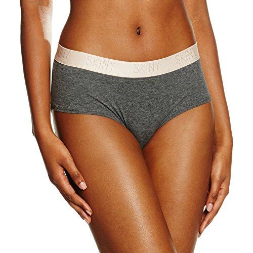 Skiny Damen Panties Skiny Pure Women Panty Grau (anthra Melange 9599)
