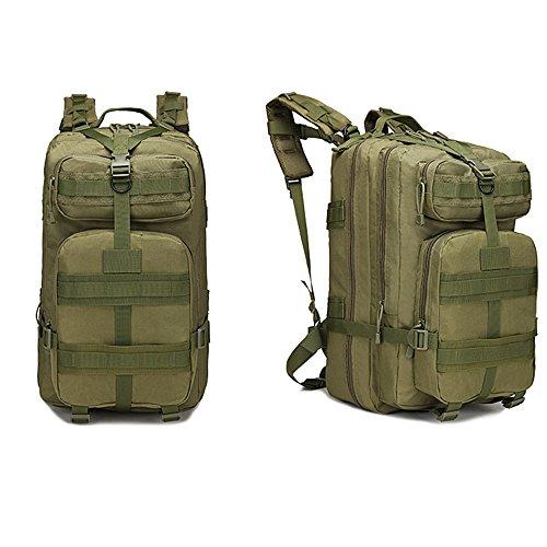 tentock Outdoor Tactical Rucksack Militär Jagd Gear 3P Assault MOLLE Wasserdichter Rucksack 40L Wandern Camping Trekking-Tage-Pack Grün