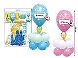Lote de 6 Kits Centro de Globos Comunión Personalizables Colores....