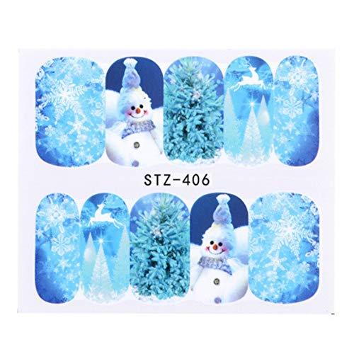 592eae372536e3 Winter Christmas Series Manicure Watermark Etiqueta Moda Impresión Uñas  Nail Art Decoración DIY Nail Tool -