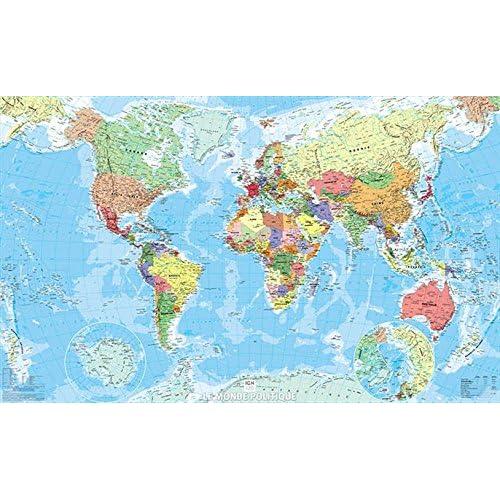 Monde politique papier 1/40M 61,5x100 cm