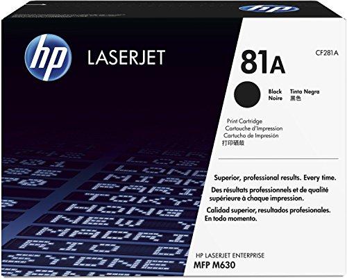 Preisvergleich Produktbild 1x Original HP Toner CF281A CF 281A für HP Laserjet Enterprise M 606 X - BLACK - Leistung: ca. 10500 Seiten/5%