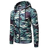 Hauts Camouflage à Capuche, GreatestPAK Manteau imprimé à Manches Longues pour Homme Sweat-Shirt Blouse Outwear