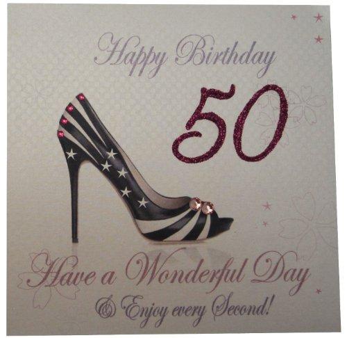WHITE COTTON CARDS Code WBA50 Geburtstagskarte Zum 50. Geburtstag