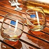 whisky glass,Bicchiere da vino Whisky girevole con cono per bicchieri da whisky serie Oceano cubano trasparente e divertente Glass Vetro senza piombo , 270ml
