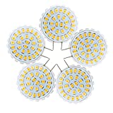 G8 2835 SMD 31LED 2Watts 100-200Lm Warmweiß Cool White Kronleuchter Dekoratives Licht Bi-Pin Lichter AC 110-140V (Packung mit 5) (Farbe : Cool White)