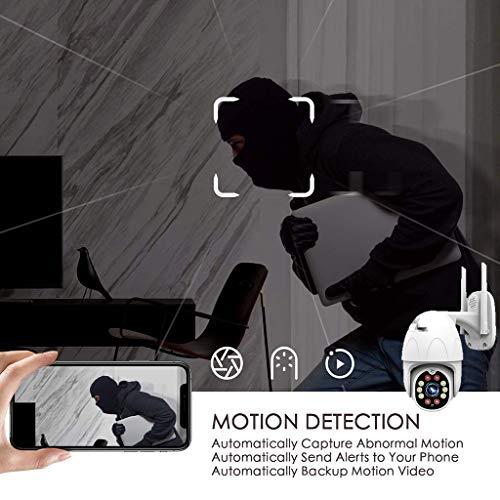Thinlerain überwachungskamera aussen WLAN,Outdoor Dome Kamera IP Kamera Mit WiFi HD außenkamera, 1080p WLAN ip Kamera Indoor Farbe Nachtsicht, IP66 Wasserdicht, Bewegungsmelder