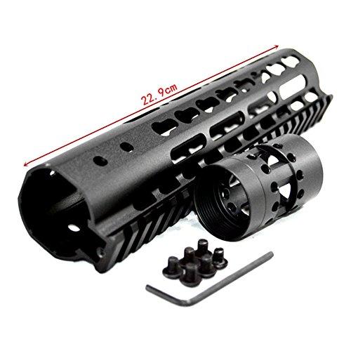 UniqueFire Handguard die Quad 20mm Picatinny Rail Design A Zwei Stück in Aluminium Free Float Hände schwarz (Quad Ar Rail)