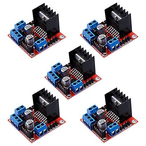 Electrely 5 Stück L298N Dual H-Brücke Motorantrieb Controller Board DC Stepper Motor Drive Module für Arduino Roboter Smart Auto -