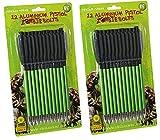 """24x 6.5"""" Pistola Balestra Zombie Verde Bulloni Alluminio Acciaio Punte Frecce 22.7-36,3 Kg"""