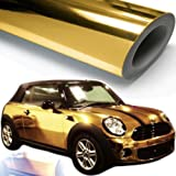CHROM GOLD glänzend reflektierend Car Wrapping Folie 1,5 x 1m blasenfrei Carbon